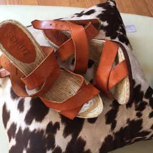 Schutz Brazilian made leather sandal
